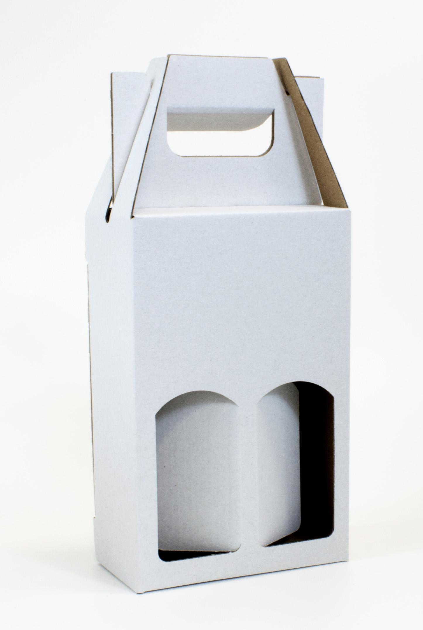 Krabice na 2 miniatury 120 x 60 x 185 mm, bílá