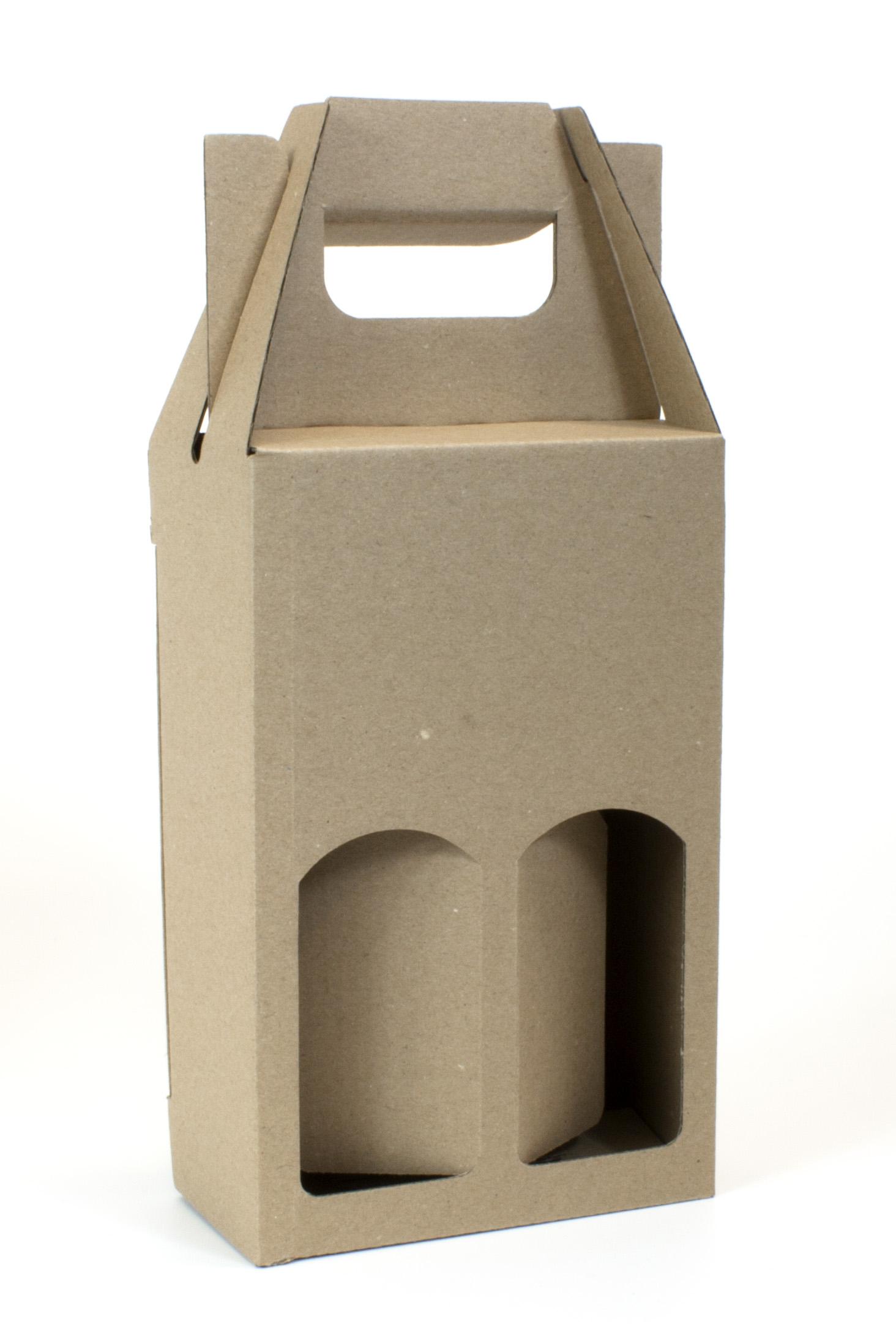 Krabice na 2 miniatury 120 x 60 x 185 mm, přírodní