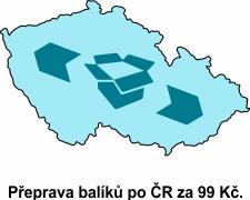 Přeprava po ČR z libovolné adresy 1 na adresu 2.