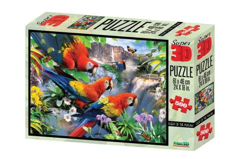 3D Puzzle Papoušci 500 dílků