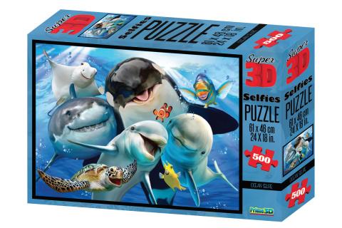 3D Puzzle Mořské selfie 500 dílků