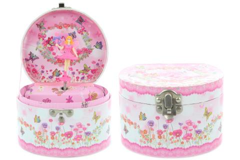 Hrací skříňka šperkovnice s vílou