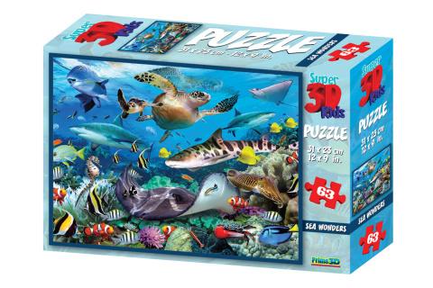 3D Puzzle Podmořský svět 63 dílků