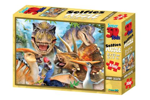 3D Puzzle Dino selfie 100 dílků