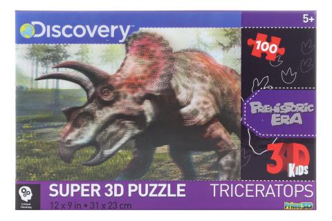 3D Puzzle Triceratops 100 dílků