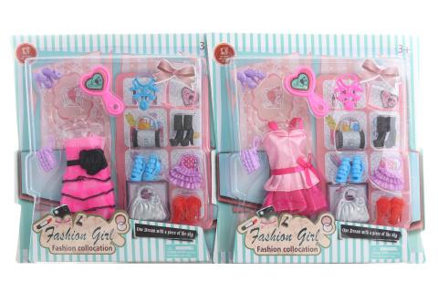 Šaty pro panenku s doplňky