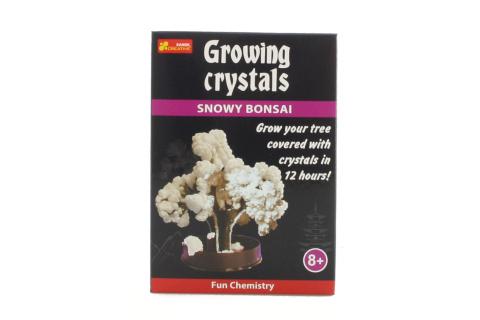 Rostoucí krystaly bílá bonsaj