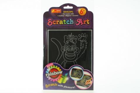 Vyškrabovací obrázek barevný - opice