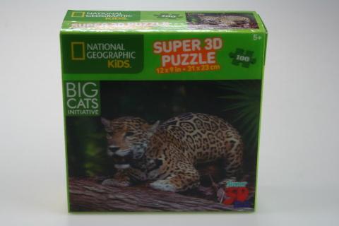 Puzzle Jaguar 100 dílků 3D