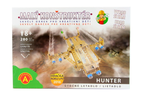 Malý konstruktér - HUNTER ÚTOČNÝ LETOUN 280 dílků