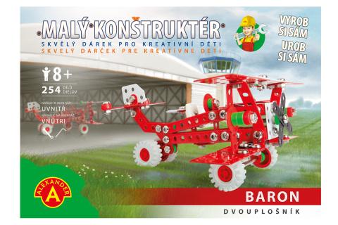 Malý konstruktér - RETRO BARON DVOJPLOŠNÍK 254 dílků