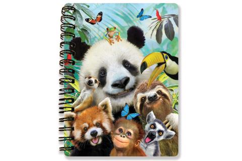 Zápisník A6 Zoo selfie 3D