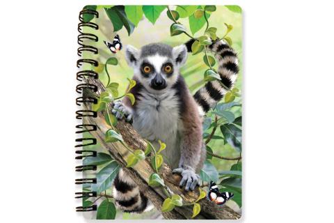 Zápisník A6 Lemur 3D