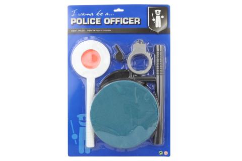 Sada policie s čepicí