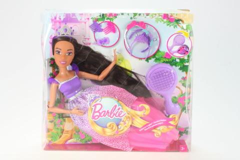 Barbie Vysoká dlouhovláska brunetka DPK21