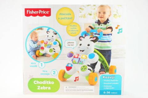 Fisher Price Chodítko zebra CZ DPL55