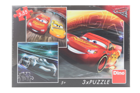Puzzle Cars 3: Trénink 3 x 55 dílků