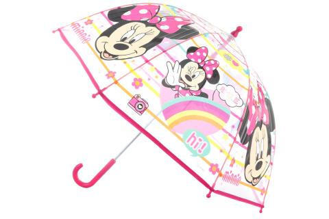 Deštník Minnie průhledný manuální