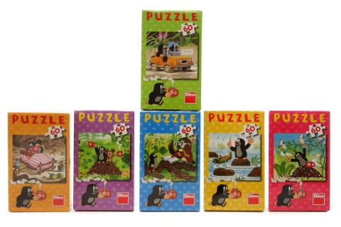 Krtek uzdravil myšku puzzle 60 dílků