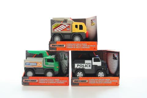 Matchbox Svítící náklaďáky DWR30