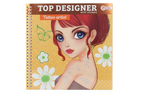 Módní návrhářka se samolepkami - tetování