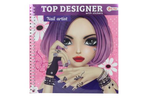Módní návrhářka se samolepkami - nehty