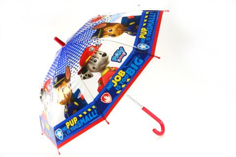 Deštník Tlapková patrola průhledný vystřelovací