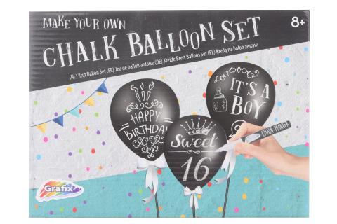 Sada kříd s balónky