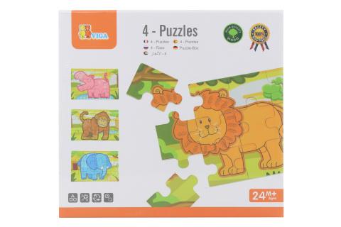 Dřevěné puzzle - džungle
