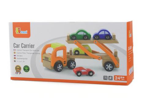 Dřevěný tahač s aut