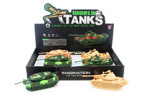 Tank kovový zvukový 6/bal