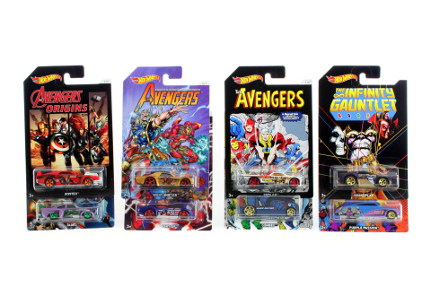 Hot Wheels Tématické auto  - Avengers FKD48