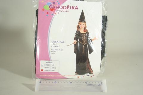 Šaty na karneval - Čarodějka, 120-130 cm