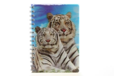 Zápisník bílý tygr 3D velký