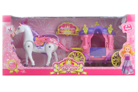 Kůň s kočárek pro panenky malé