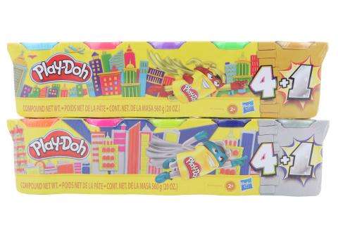 Play-Doh Stříbrné/Zlaté balení 5ks