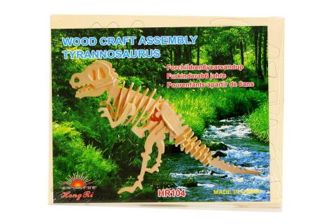 Puzzle dřevěné 3D T-Rex