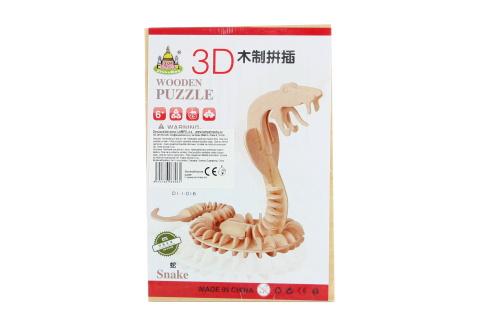 Puzzle dřevěné 3D Had