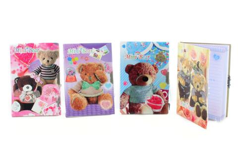 Zápisník s medvídky klíček