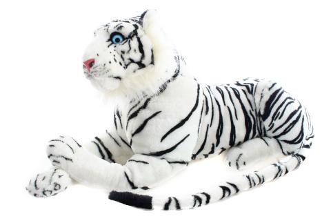 Plyš Tygr bílý 70 cm