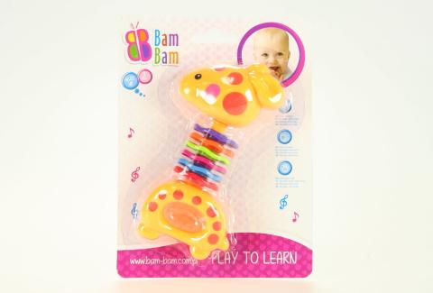 BAM BAM Chrastítko žirafka