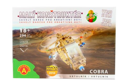 Malý konstruktér - COBRA VRTULNÍK 296 dílků