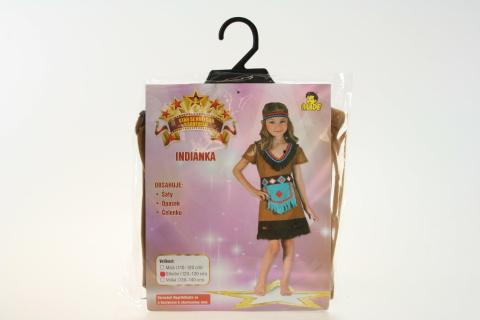 Šaty na karneval - Indiánka 120-130cm