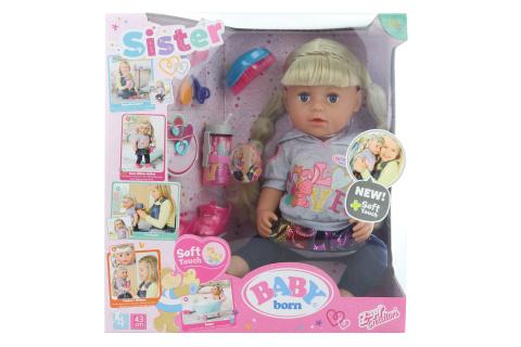 Sestřička BABY born Soft Touch blondýnka, 43 cm