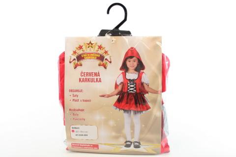 Šaty na karneval - Červená karkulka, 92 -104 cm