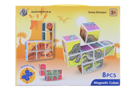 Magnetické kostky dinosauři