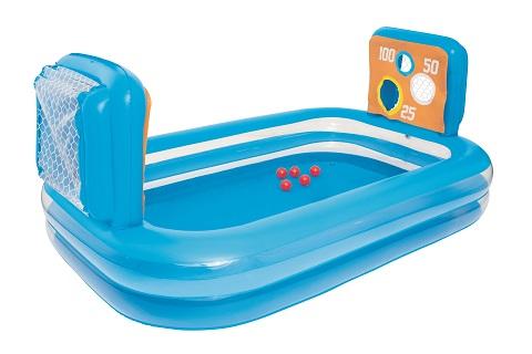 Nafukovací bazén s terči a míčky