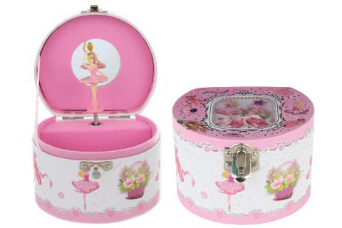 Hrací skříňka šperkovnice baletka