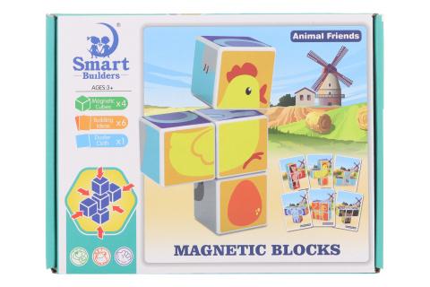 Magnetické kostky zvířátka