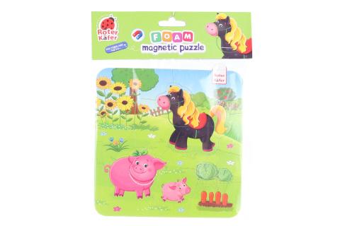 Pěnové magnetické puzzle - domácí zvířátka
